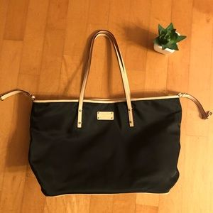 Kate Spade Black Fabric Travel Tote